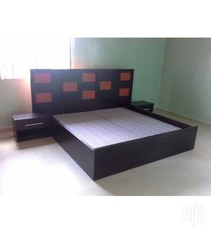 Available Bed Frame 6*6 With 2 Bed Side Drawer   Furniture for sale in Lagos State, Isolo