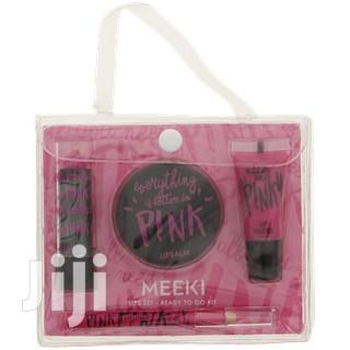 Meeki Lipstick Set (Pink) | Makeup for sale in Surulere, Lagos State, Nigeria