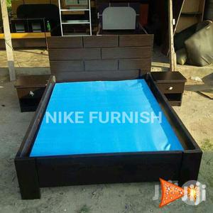Available Bed Frame,6x6 With 2bed Side Drawer | Furniture for sale in Lagos State
