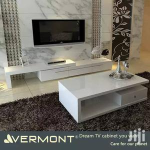 TV Stand and Table Gloss Board White Colour   Furniture for sale in Lagos State, Lekki