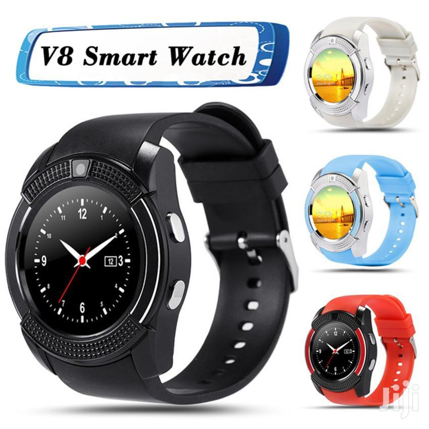 Sporty Bluetooth Smart Watch Phone With Camera | Smart Watches & Trackers for sale in Ikeja, Lagos State, Nigeria