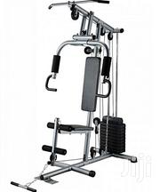 American Fitness One Station Gym With 50KG Vinyl Weight Stack- Silver | Sports Equipment for sale in Lagos State, Isolo