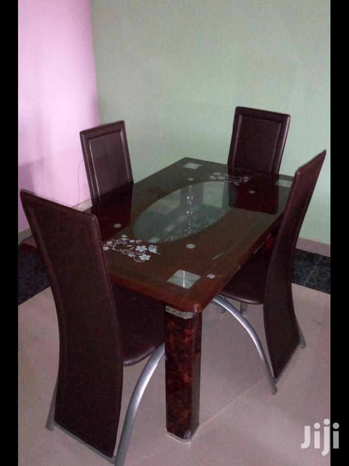 Imported 4-Seater Glass Dining Table