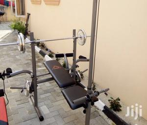 Weight Lifting Bench With 50kg Barbell   Sports Equipment for sale in Abuja (FCT) State, Gwarinpa