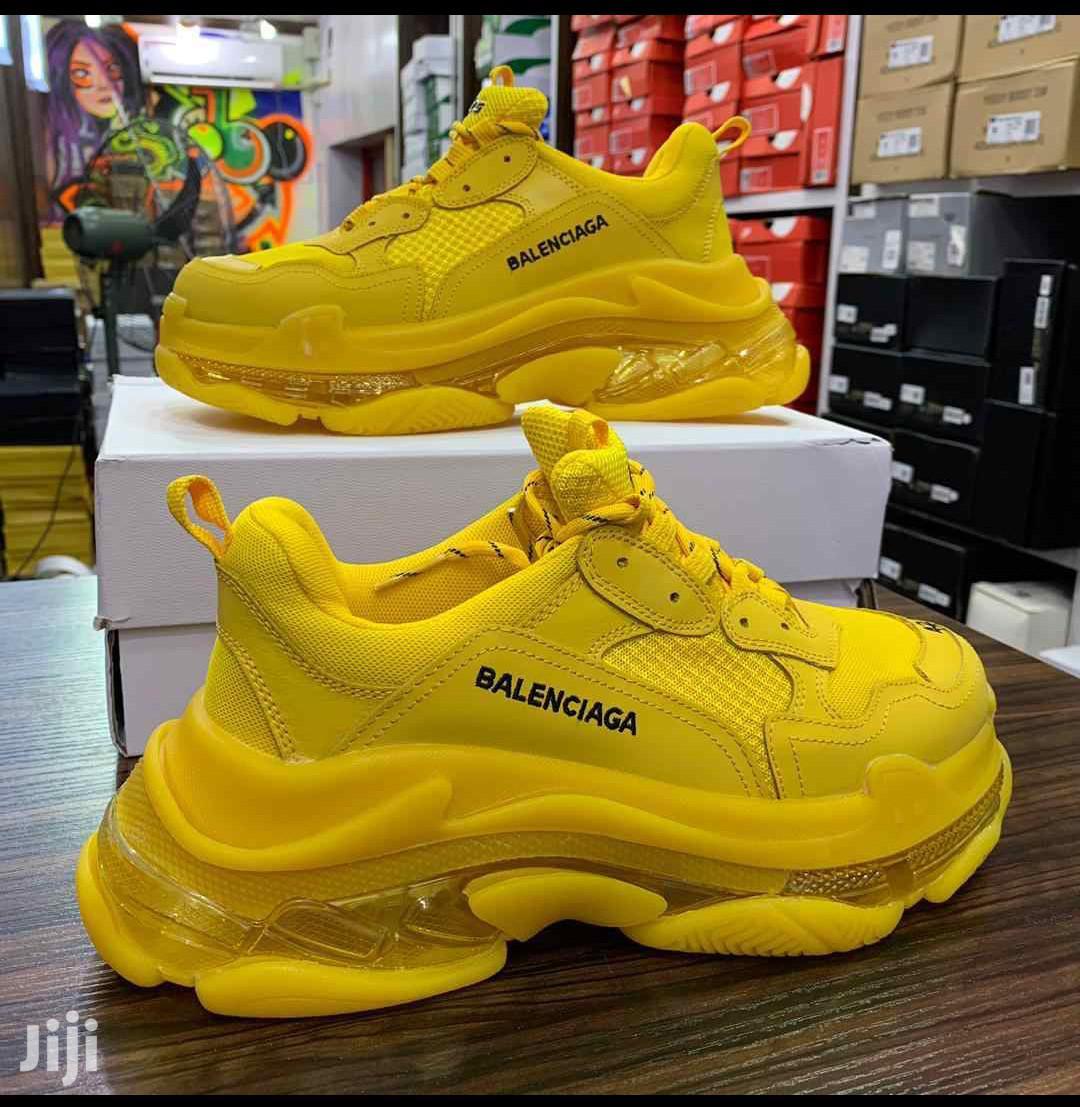Balenciaga Men Yellow Sneakers in