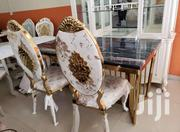 This Is Luxury Gold Marble Dining Table With Six Chairs | Furniture for sale in Lagos State, Ojo