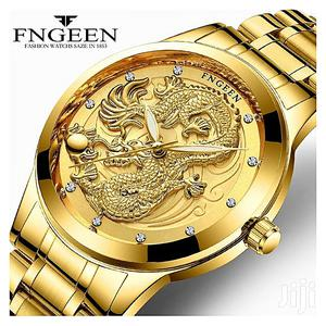 Golden Dragon Men Luxury Quartz Watch | Watches for sale in Lagos State, Lekki