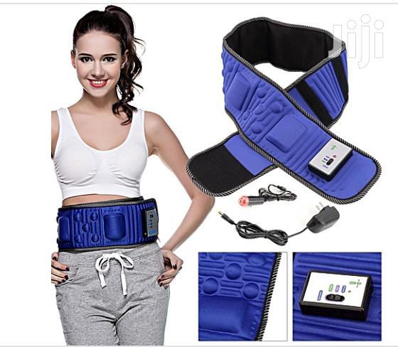 Vibration Fitness Belt Slimming Massager Fat Burning Waist Band X5 | Sports Equipment for sale in Mushin, Lagos State, Nigeria