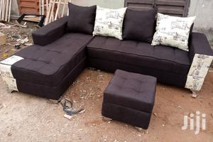 L-Shaped Sofa Chairs With Ottoman. Dark Brown Couches | Furniture for sale in Lagos State