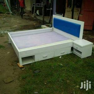 Available Bed Frame 6x6 Bedframe With Under Cabinet | Furniture for sale in Lagos State, Badagry