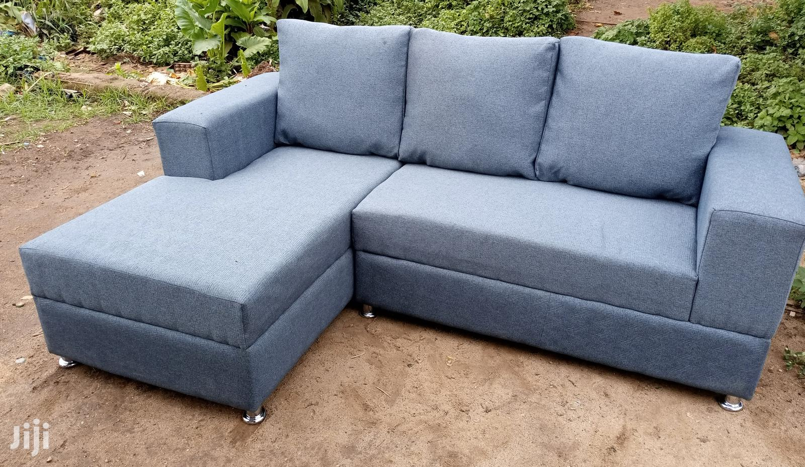 Picture of: Archive New L Shaped Sofa Chair Gray Colour Fabric In Lagos State Furniture Prefix E Jiji Ng