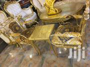 Luxury Set Of Console Gold Chair With A Marble Center Table | Furniture for sale in Lagos State, Ojo