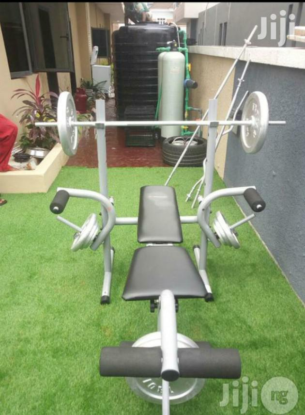Weight Bench With 50kg Weight Plate