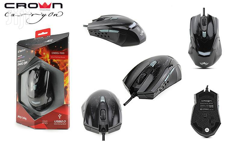 Crown Blaze-wired Gaming Mouse | Computer Accessories  for sale in Wuse 2, Abuja (FCT) State, Nigeria