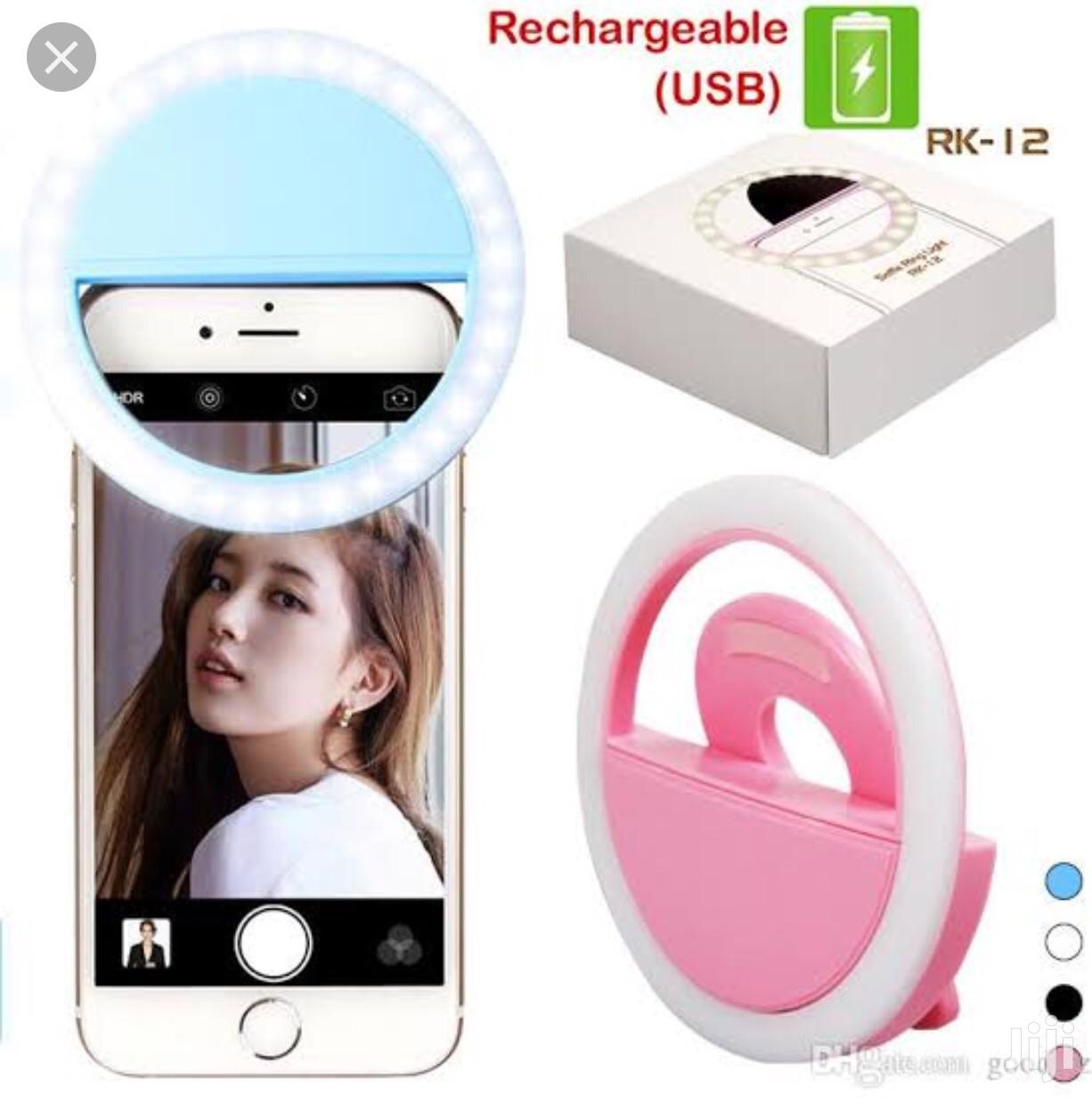 Rechargeable Selfie Ring Light | Accessories for Mobile Phones & Tablets for sale in Ilupeju, Lagos State, Nigeria