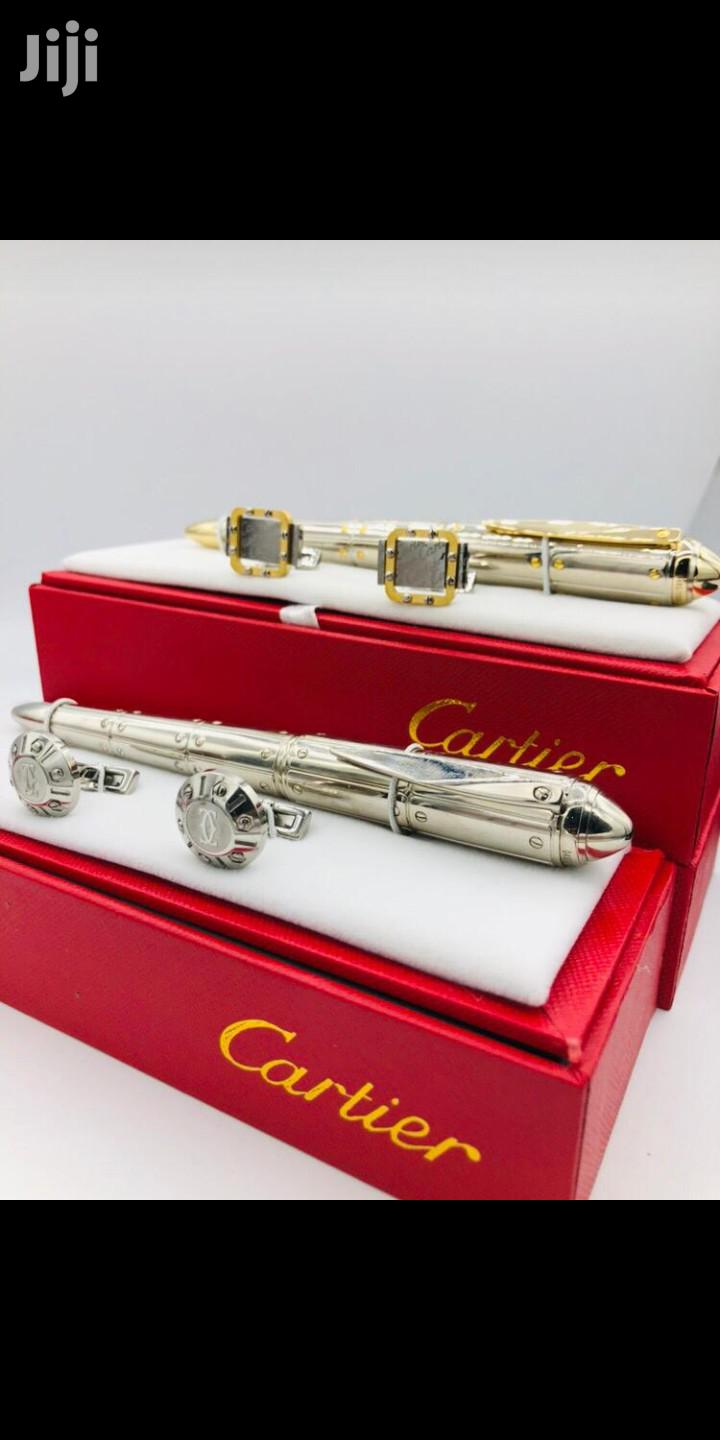Cartier Cufflinks And Pen