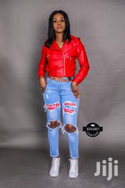 Genuine Red Leather Jacket | Clothing for sale in Lagos State, Magodo