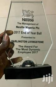 Crystal /Glass Award With Printing | Arts & Crafts for sale in Lagos State, Agege