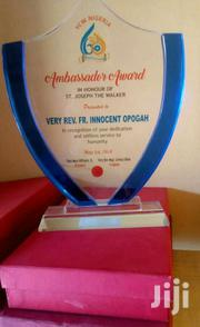 Crystal /Glass Award With Printing | Arts & Crafts for sale in Lagos State, Isolo