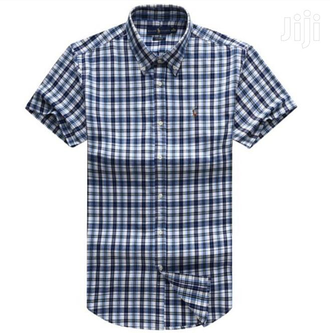 Best Qualify Blue Short Sleeves Shirts by PRL