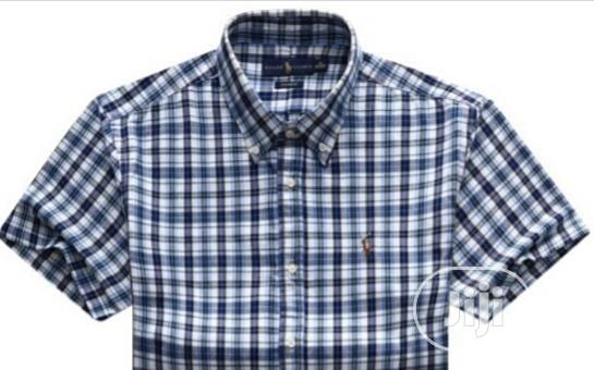 Best Qualify Blue Short Sleeves Shirts by PRL | Clothing for sale in Lagos Island (Eko), Lagos State, Nigeria