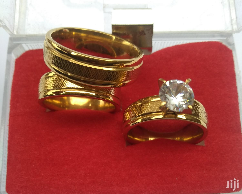 Slim Fit Wedding Ring Set 18 Karat Gold Plated
