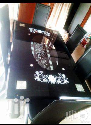 Quality Classy Glass Dining Table By Six Seater   Furniture for sale in Lagos State, Ojodu