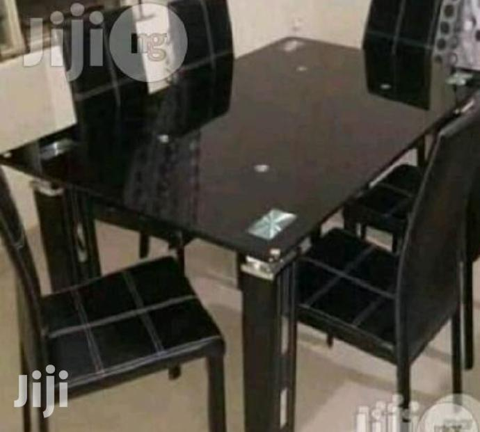 Quality Classy Glass Dining Table by Four Seater