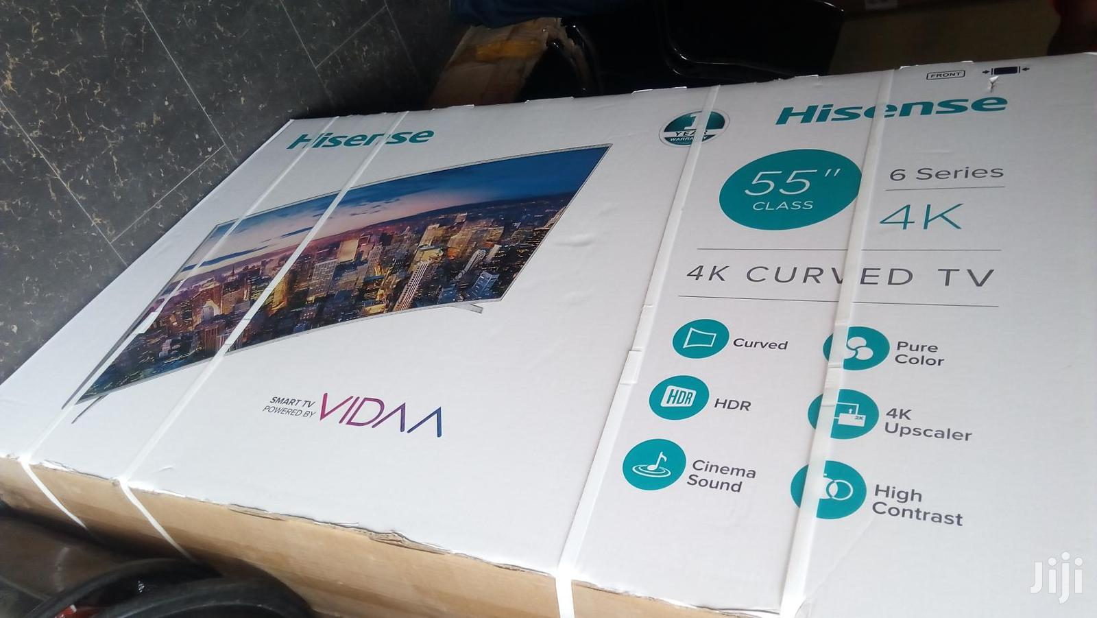 "Hisense Curved 4k TV 55"""
