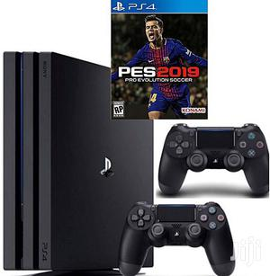 Playstation 4 SLIM CONSOLE 500GB With FIFA 19 Cd and 2 PAD | Video Game Consoles for sale in Lagos State, Ikeja