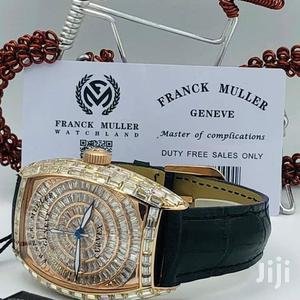Franck Muller Gold Full Ice Leather Strap Watch   Watches for sale in Lagos State, Lagos Island (Eko)