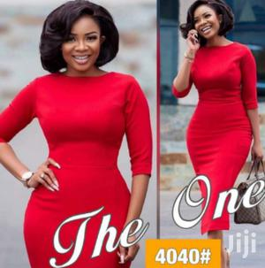 Simple Cooperate Midi Dress | Clothing for sale in Lagos State, Ikeja