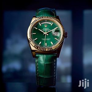 Rolex Oyster Perpetual Day-Date Green Leather Strap Watch   Watches for sale in Lagos State, Lagos Island (Eko)