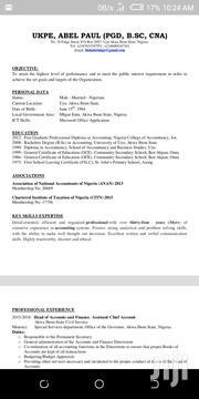 Accounting & Finance CV   Accounting & Finance CVs for sale in Akwa Ibom State, Mkpat Enin