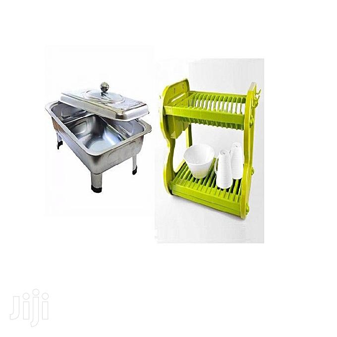 Generic Dish Rack And Chaffing Dish