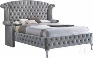Latest Upholstery Frabic Sofa Bed 6x6 With 2bedside Drawer | Furniture for sale in Lagos State, Lekki