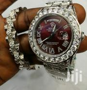 Original Silver All Round Stone Designed With Hand Band by Rolex | Watches for sale in Lagos State, Lagos Island
