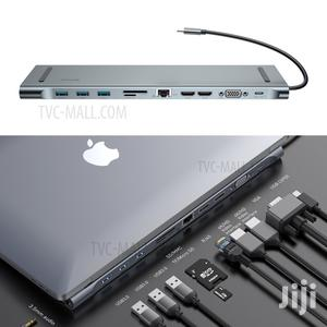 Baseus 10-in-1 USB-C Type-c Hub Adapter Station For Apple Macbook Pro   Computer Accessories  for sale in Lagos State, Ikeja