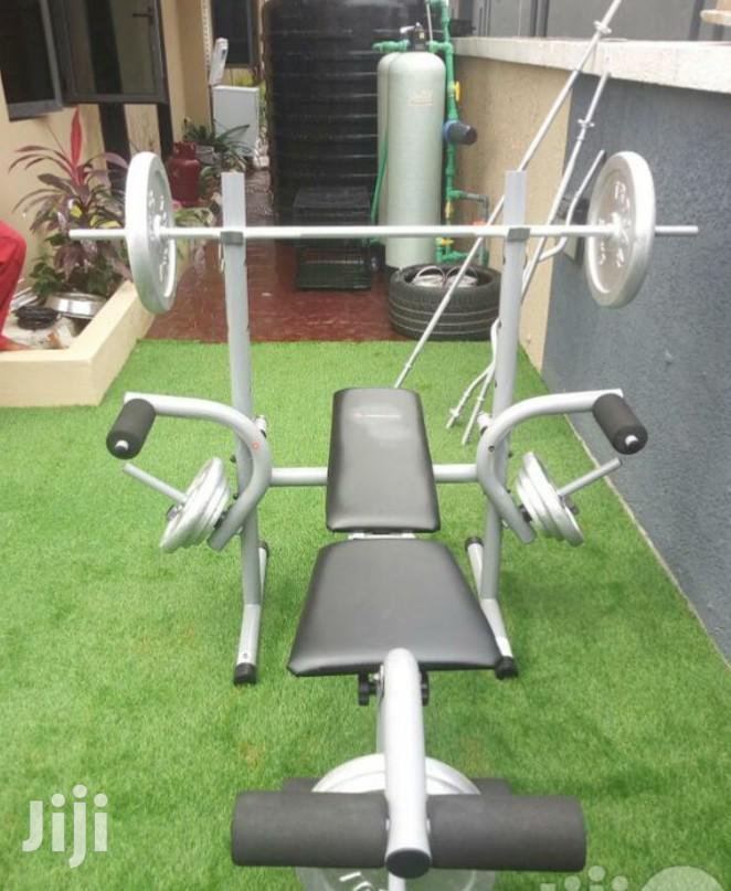 Archive: Commercial Weight Lifting Bench With 50kg Plate