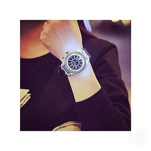 Geneva LED Waterproof Quartz Wrist Watches- Black   Watches for sale in Lagos State, Agege