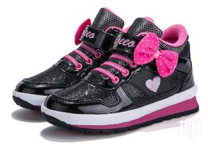 Black and Pink High Top Canvas Sneakers for Girls | Children's Shoes for sale in Lagos State, Lagos Island (Eko)