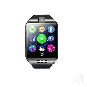 Q18 Smart Watch Camera Support Sim TF Card   Smart Watches & Trackers for sale in Lagos State, Ikeja