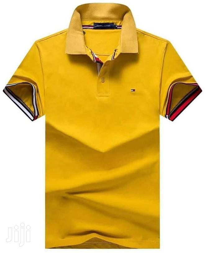 Archive: Gold Yellow Designer's Polo Tshirts by Tommy