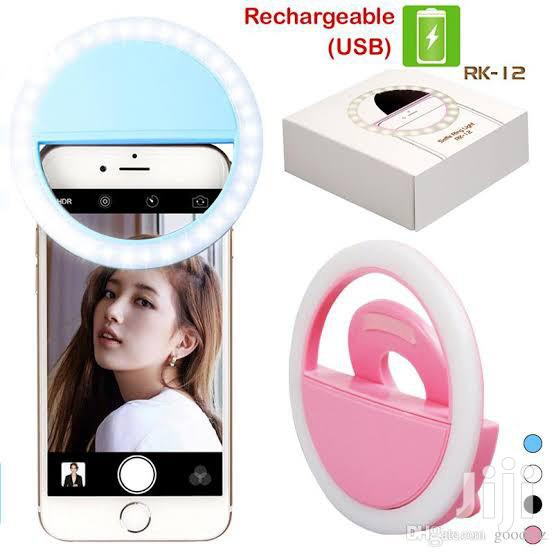 Selfie Ring Flash Light Rechargeable   Accessories for Mobile Phones & Tablets for sale in Maryland, Lagos State, Nigeria