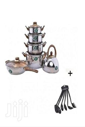 Set of Cookware With Kettle Frypan and Non Stick Spoon   Kitchen & Dining for sale in Lagos State, Lagos Island (Eko)