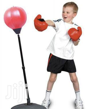 Boxing Punching Speed Bag With Adjustable Stand for Kids   Sports Equipment for sale in Lagos State