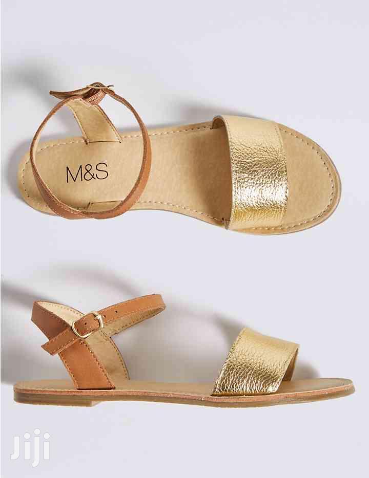 Girls Gold Flat Sandals in Lekki