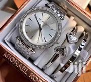 Silver Chronograph Design Ladies Watch Wit 2 Bangles by Michael Kors   Watches for sale in Lagos State, Lagos Island