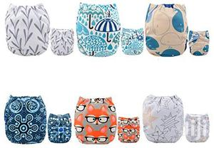 USA ALVABABY Pocket Cloth Diapers Reusable, Washable Adjustable | Babies & Kids Accessories for sale in Lagos State, Alimosho