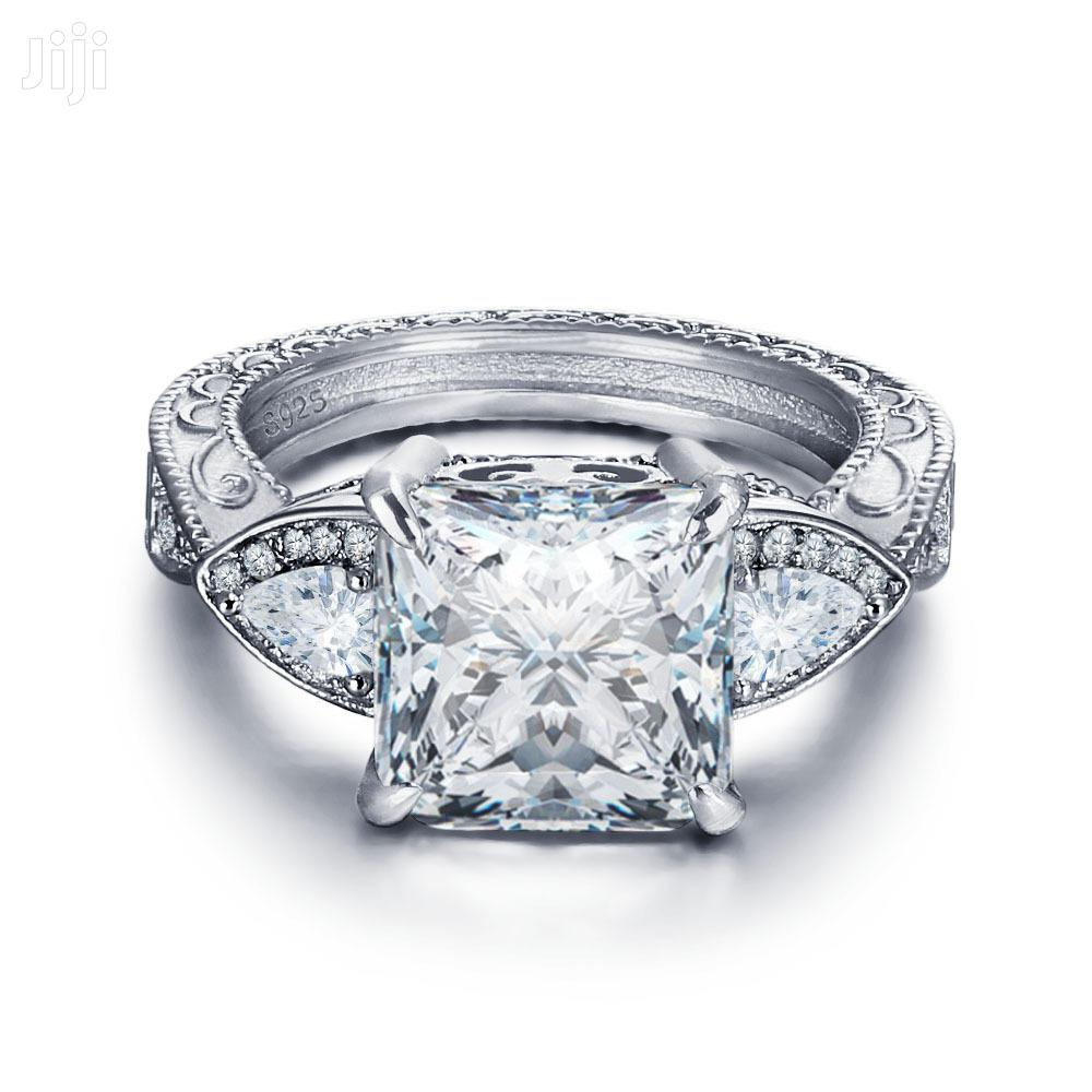 Original 925 Sterling Silver Engagement Ring,Doesn't Fade Nor Tarnish | Wedding Wear & Accessories for sale in Ojodu, Lagos State, Nigeria